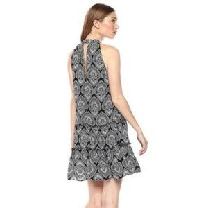 Laundry By Shelli Segal Dresses - Halter Plunging Cutout  Print Dress